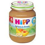 HIPP Био Бебешко пюре/кайсии и банани/4м+ 125 гр.